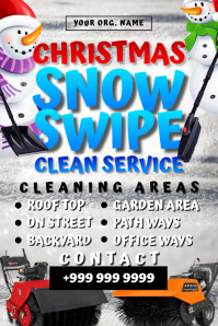 Christmas Snow Cleaning Template Poster