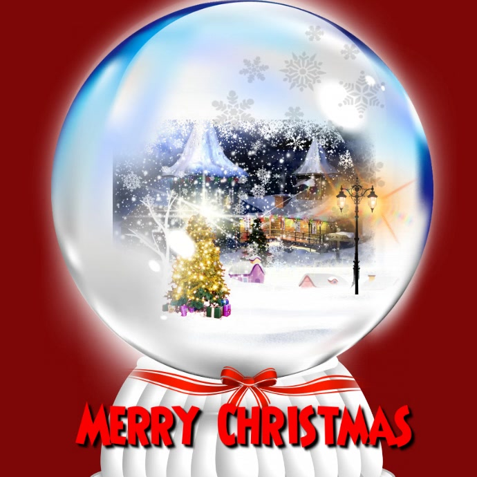 christmas snow globe template postermywall
