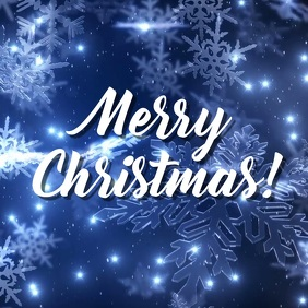 Christmas snowflake video greeting