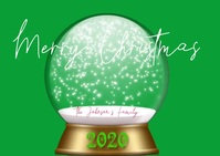 Christmas Snowglobe Family Photo Video Ikhadi leposi template