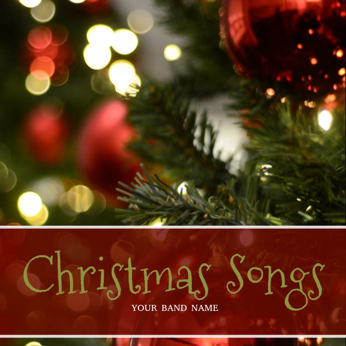 Christmas Album Cover Art.Christmas Songs Album Cover Template Postermywall