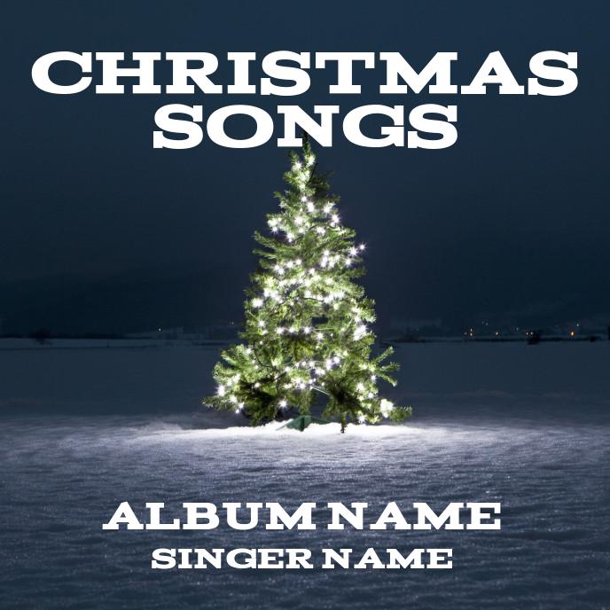 Christmas songs Sampul Album template
