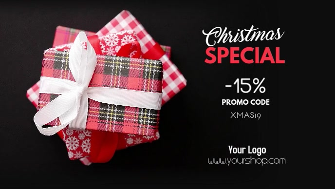 Christmas Special Advert Promotion Gift Sale Facebook-Covervideo (16:9) template