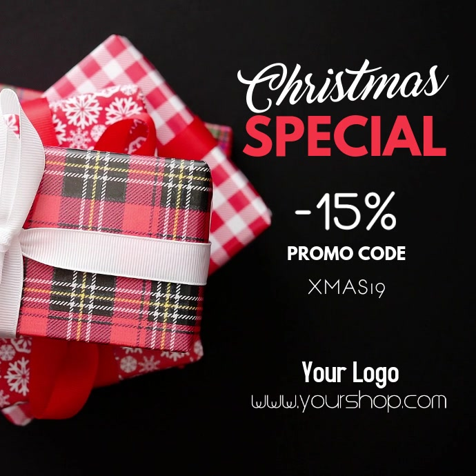 Christmas Special Advert Promotion Gift Sale Store Shopping