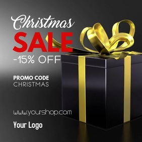 Christmas Special Gift Video Sale Promotion Carré (1:1) template