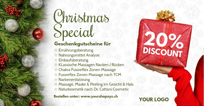 Christmas Special Offer Discount Price Off Ad Facebook Advertensie template