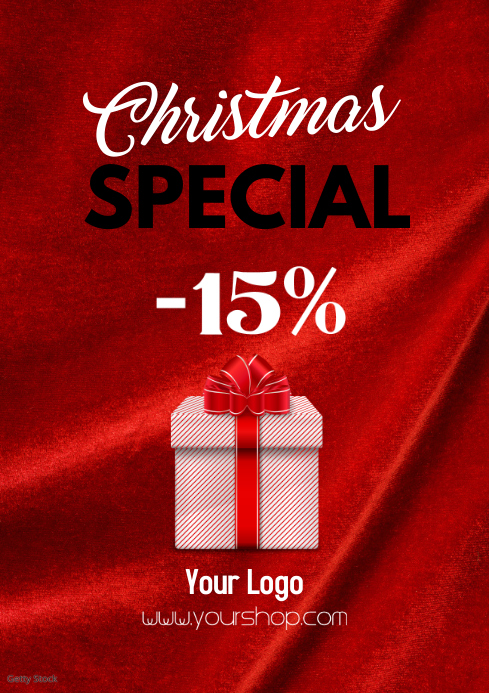 Christmas Special Sale FlYer Price Off Gift