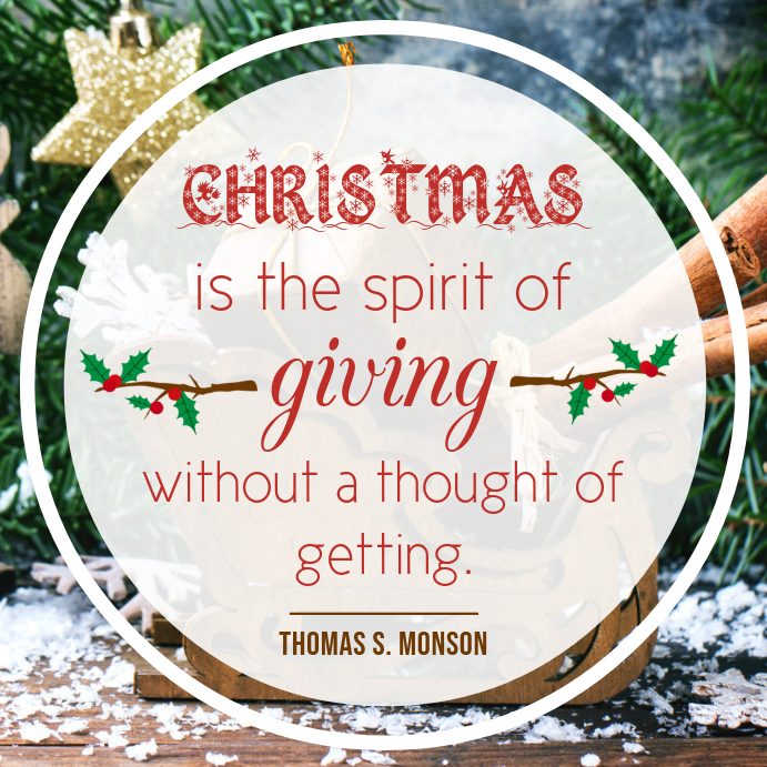 Christmas Spirit Inspirational Quote Instagram