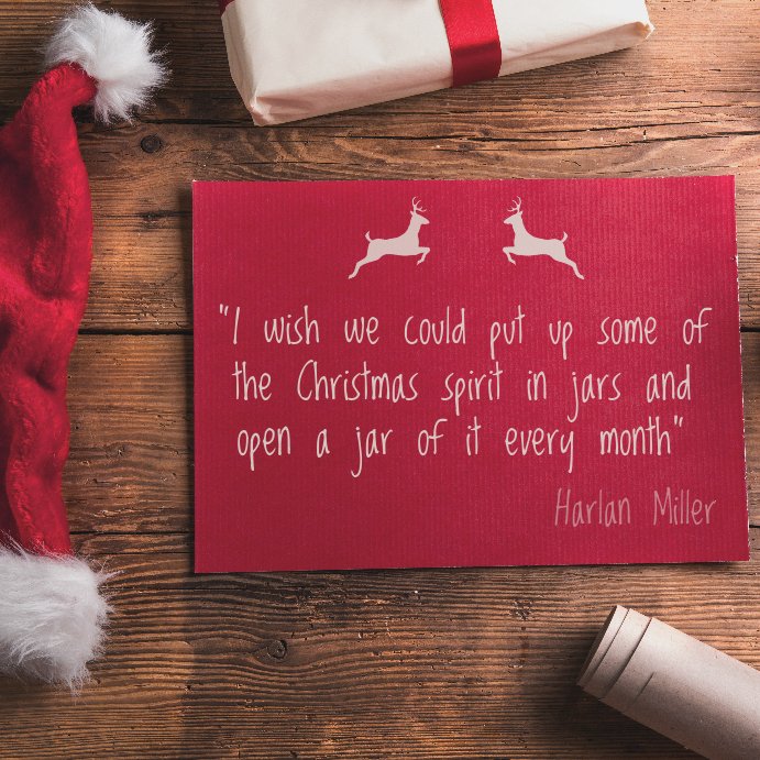 Christmas Spirit Quote Instagram