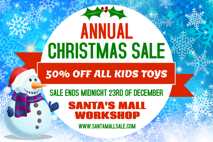 Christmas Storewide Sale Poster