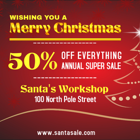 Christmas Storewide Sale Square Ad