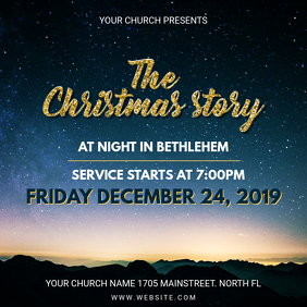 Christmas Story Church Service Invitation