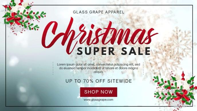 Christmas Super Sale Facebook Banner Video