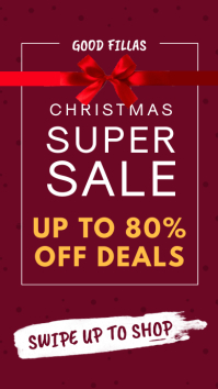 Christmas Super Sale Instagram Story Template
