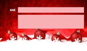 CHRISTMAS TAG Merker template