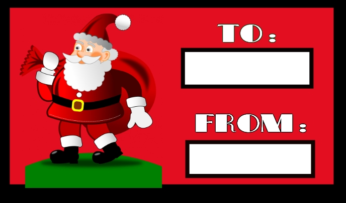 Christmas tag Label template