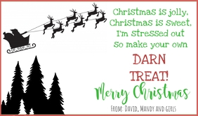 Christmas Treat tag Merker template