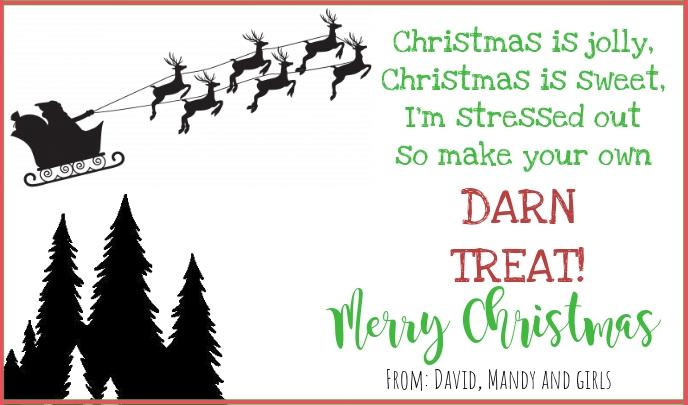 Christmas Treat tag