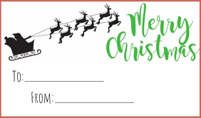 Christmas Tag Merker template