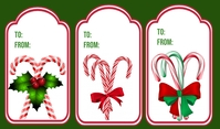 Christmas Tag Etiqueta template