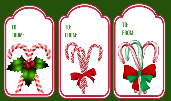 Christmas Tag template