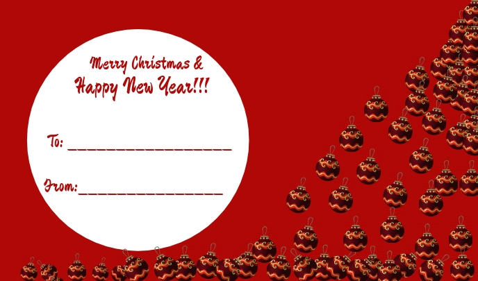 Christmas Tag/Gift Tag 标记 template