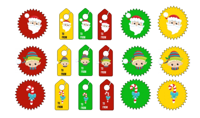 Christmas Tags and Stickers Tanda template