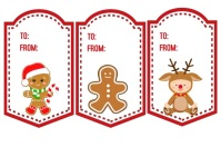 Christmas Tags Etiket template