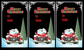 Christmas Tags Label template