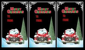 Christmas Tags แท็ก template