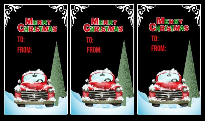 Christmas Tags Mærke template