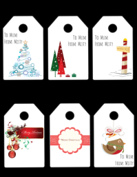 Christmas Tags Flyer (US Letter) template