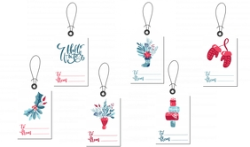 Christmas Tags Etiqueta template