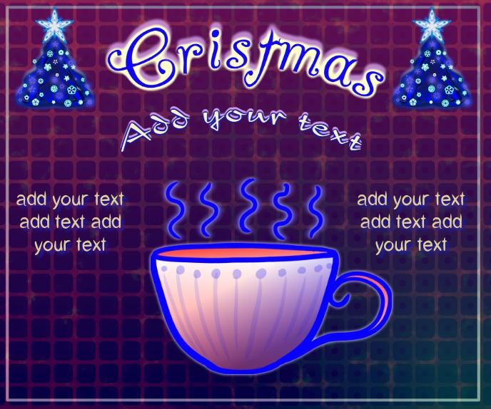 Christmas tea or coffee, and decor trees