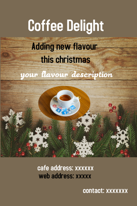 christmas template,business flyer