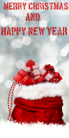 Christmas Template Roll Up Banner 3' × 6'