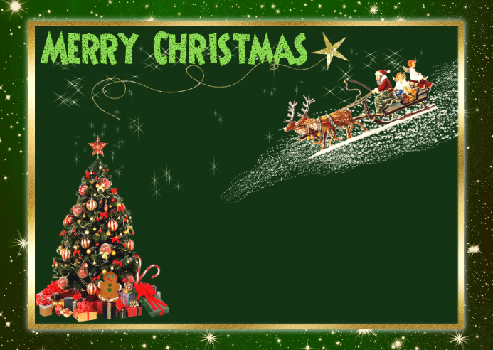 Christmas Template Postcard