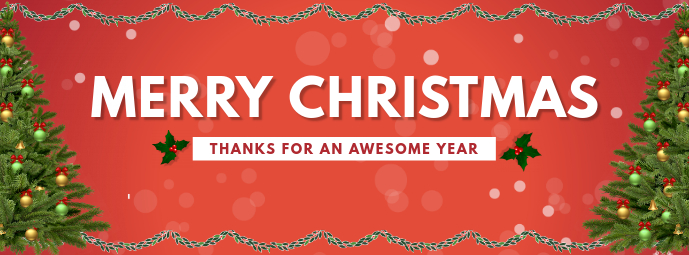 Christmas Thanks Facebook Cover Template