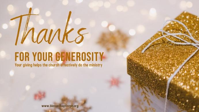 christmas Thanks for giving Tampilan Digital (16:9) template