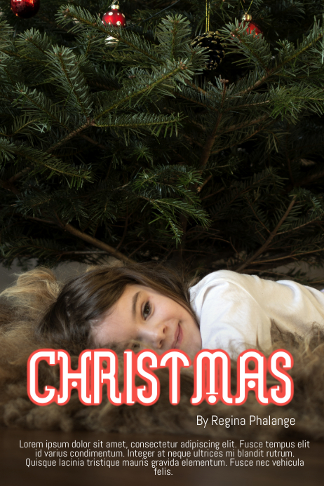 christmas theme book cover movie poster