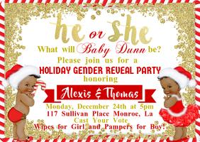 Christmas Theme Gender Reveal