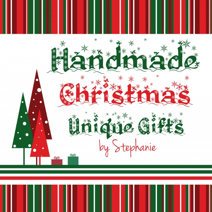 Christmas Theme Logo Red Green Trees Gifts 徽标 template