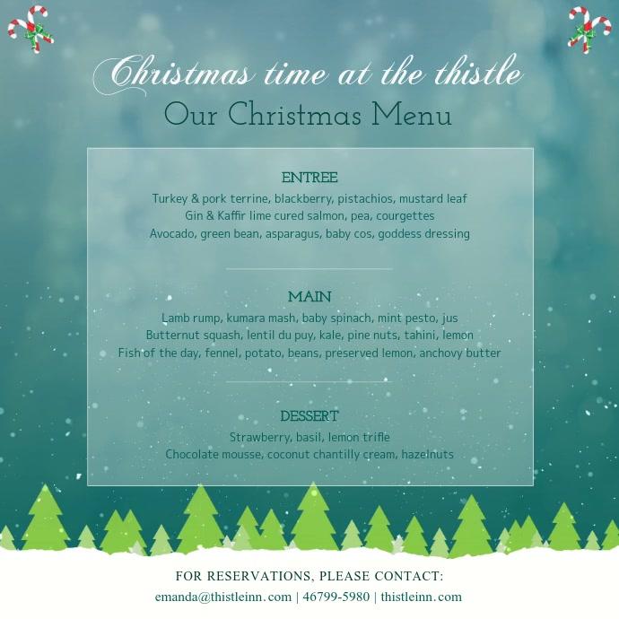 Christmas Themed Menu Square Video