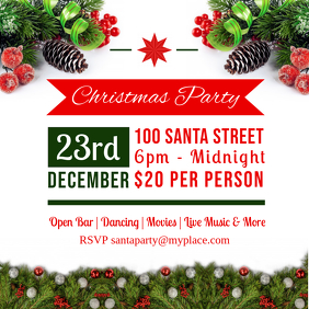 Christmas themed Party Invitation Advert