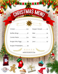 Christmas Themed Wallboard Menu