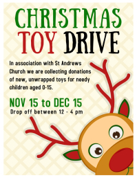 christmas toy appeal donations Flyer (US Letter) template