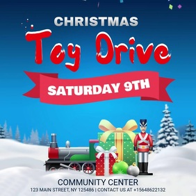 Christmas Toy Drive Blue Video