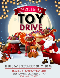 christmas toy drive Flyer (US Letter) template