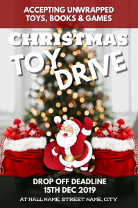 Christmas Toy Drive Poster template