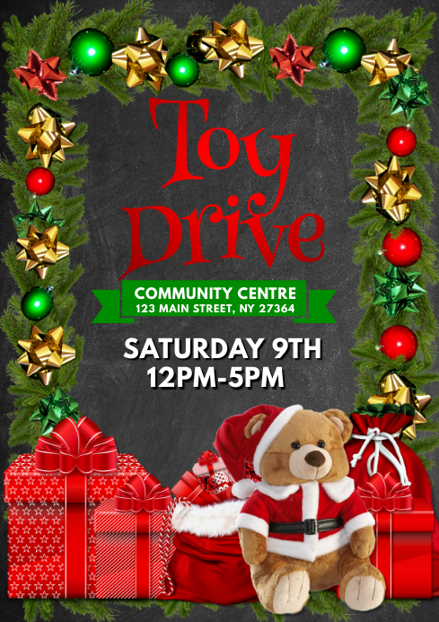 copy of christmas toy drive flyer